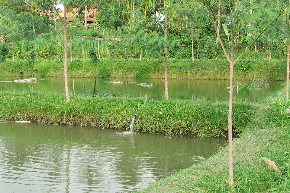 water security prawn ponds